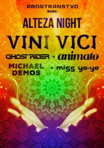 Alteza Night: Vini Vici, Ghost Rider, Animato logo