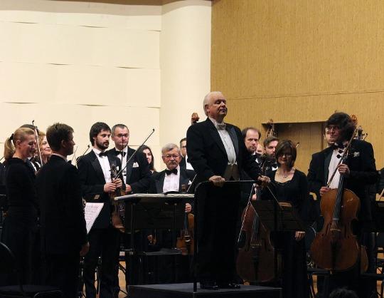 Академический симфонический оркестр Московской филармонии. Юрий Симонов, Сергей Ролдугин