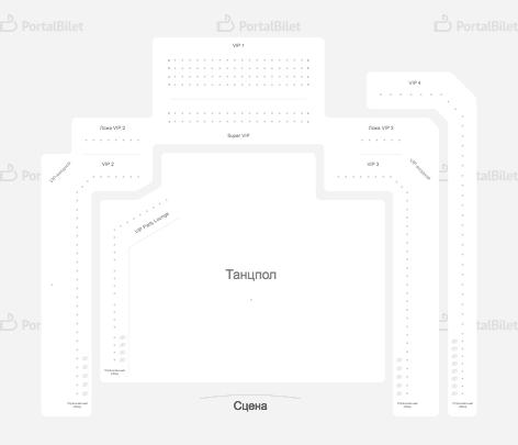 ГлавClub  схема концертной площадки