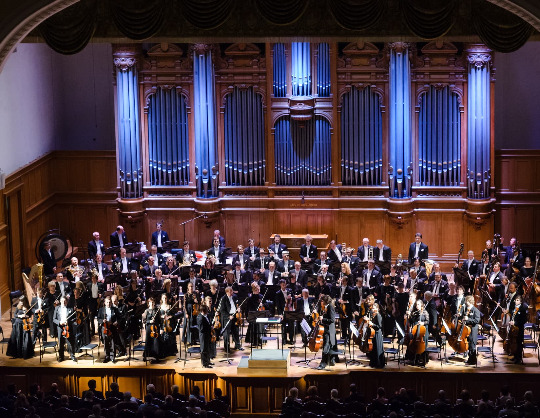 Академический симфонический оркестр Московской филармонии, Юрий Симонов, Сергей Догадин