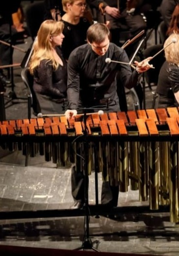 Андрей Волосовский, маримба/перкуссия Moscow Percussion Ensemble logo