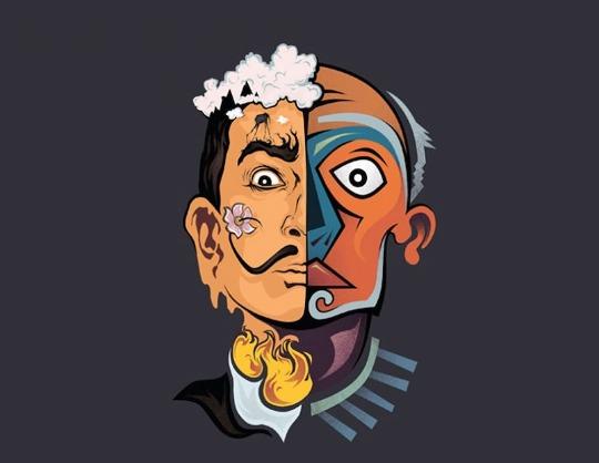 Сальвадор Дали и Пабло Пикассо